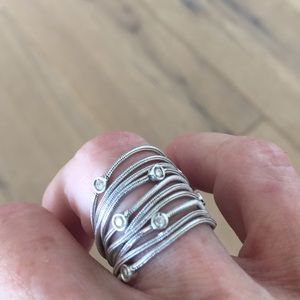14kt white gold and diamonds ring
